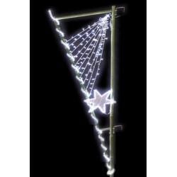 Décor de Noël lumineux en Bambou - modèle Étoile - décoration de noël pour poteau