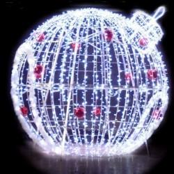 Décor de Igloo boule lumineuse en 3D pour rond-points ou parcs et jardins - Net Collectivités