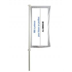Mâts à potence en aluminium pour pavillon à la flamande - Net Collectivités