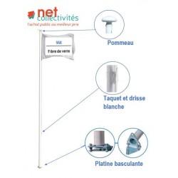 Mâts standard en fibre de verre - Pavoisement - Net Collectivités