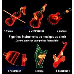 Décor lumineux Figurine Instrument de Musique pour Lanterne - choisissez votre modèle - Net Collectivités