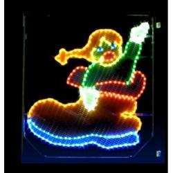 Décor lumineux Figurine Poupée pour Poteau lampadaire - prix d'un décors de Noël pour collectivités