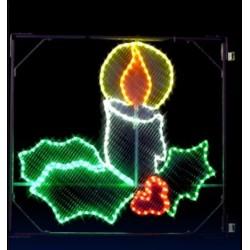 Décor lumineux Figurine Chandelle pour Poteau lampadaire