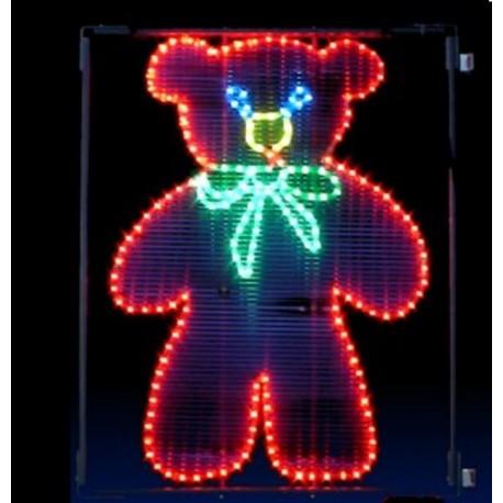 Décor lumineux Figurine Nounours pour Poteau lampadaire