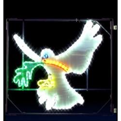 Décor lumineux Figurine Colombe de la Paix pour Poteau lampadaire