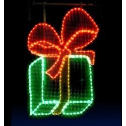 Décor lumineux Figurine Cadeau de Noël à accrocher à un poteau lampadaire