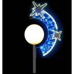 Boule étoilée - décoration pour candélabre boule