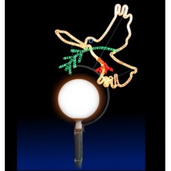 Décoration pour lampadaire boule - la Colombe de la paix - décor traditionnel de Noel pour communes