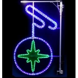 Décor féerique de Noël pour candélabres - Boule éclat - illumination pour décorer la ville