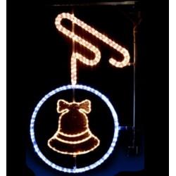 Décor féerique de Noël pour candélabres - Boule cloche