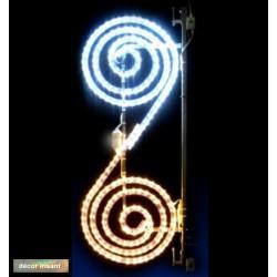 Décor féerique de Noël pour candélabres - Duo spirale - décor irisant pour illuminer les villes