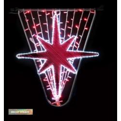 Décor féerique de Noël pour candélabres - Étoile du Nord irisant - Net Collectivités