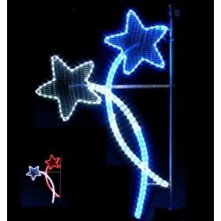 Décor féerique de Noël pour reverbères - Croisée d'étoiles