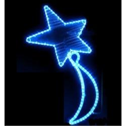 Décor féerique de Noël pour réverbères - Étoile filante bleue