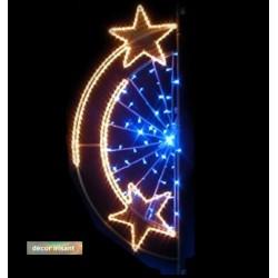 Décor Étoile promenade irisant et lumineux pour poteau