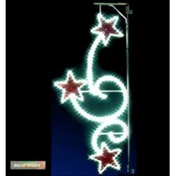 Décor Étoiles délicieuses irisant et lumineux pour poteau