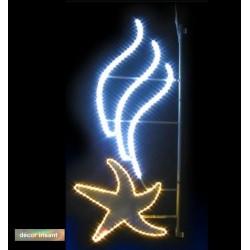 Décor Étoile dansante irisant et lumineux pour poteau