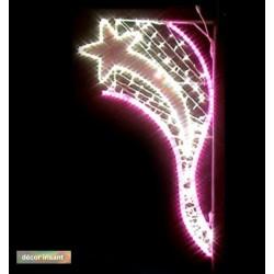 Décor Étoile Filante Dune irisant et lumineux pour poteau