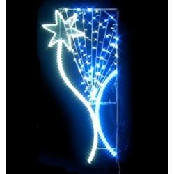 Décor Étoile Lagon lumineux pour poteau