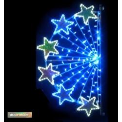Décor Rayon d'étoiles lumineux et irisant pour poteau