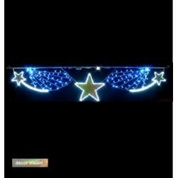 Traversée Lumineuse - Mer d'étoiles - Décor irisant de traversée de rue