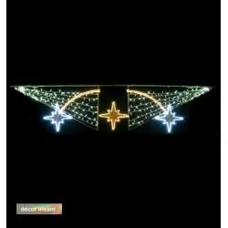 Traversée Lumineuse - Astrale - Décor irisant de traversée de rue