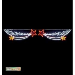 Traversée Lumineuse - Étoiles envieuses - Décor irisant de traversée de rue