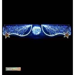 Traversée Lumineuse - Saphir - Décor irisant