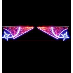 Traversée Lumineuse - Frisson d'étoiles - Décor irisant de traversée de rue