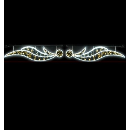 Traversée Lumineuse - Anges - Décor de traversée de rue
