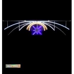 Voûte Lumineuse - Météore - Décor irisant de traversée de rue