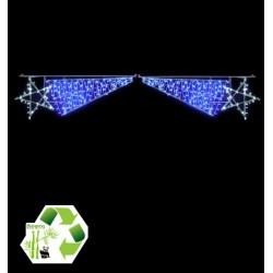 Traversée Étoiles filantes lumineuses - Voûte de rue - Décor de traversée de rue