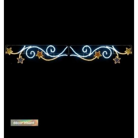 Voûte Lumineuse - Rinceaux étoilés - Décor de traversée de rue