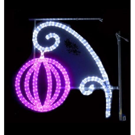 Décor de Noël lampion lumineux à LED pour Poteau - Net Collectivités