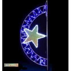 Décor Neptune lumineux pour poteau