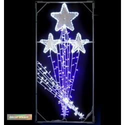 Décor Feu d'articife lumineux pour lampadaire