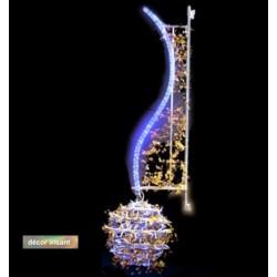Décor lumineux Jade féerique pour candélabre