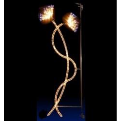 Décor lumineux Art Nouveau pour candélabre
