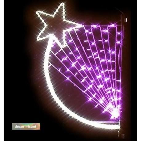 Visuel du décor de Noël pour commune : Rosalide pour candélabre - Net Collectivités