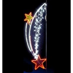 Décor lumineux Chute étoilée pour candélabre