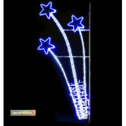Décor lumineux Baie des Anges pour candélabre