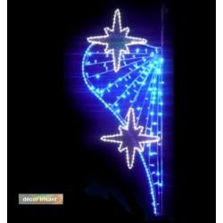 Décor lumineux Aux Pays imaginaire pour poteaux lampadaires