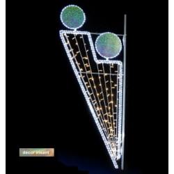 Décor lumineux Arthémis pour poteaux lampadaires