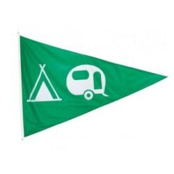 Flamme de camping pour indiquer l'emplacement réservé aux tentes et caravanes - Net Collectivités