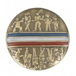 Visuel de l'accessoire Pin's doré travaillé Conseil Municipal des Jeunes ou des Enfants