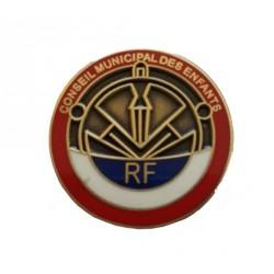 Visuel du décor Pin's RF Conseil Municipal des Enfants - Net Collectivités
