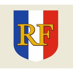 Écusson porte-drapeaux - Tricolore RF - Gamme premium