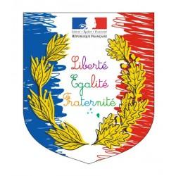 Écusson porte-drapeaux - Spécial école Loi Peillon - Gamme premium