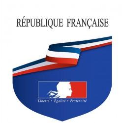 Écusson République Française porte-drapeaux - Loi Peillon - Gamme premium