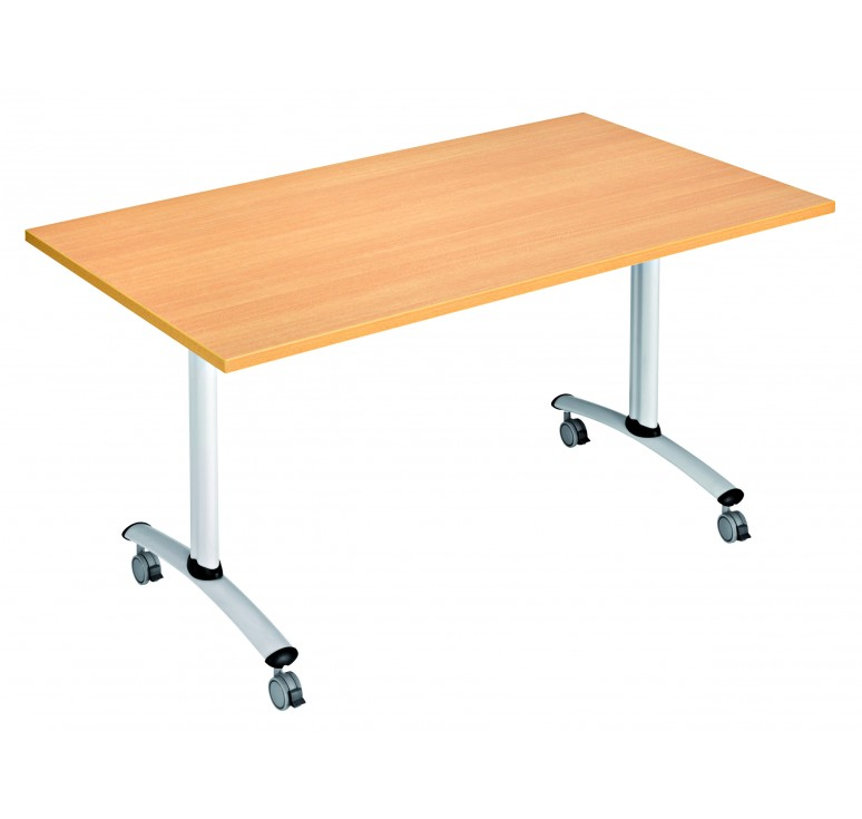 Table de collectivit basculante table basculante for Table exterieure a roulettes